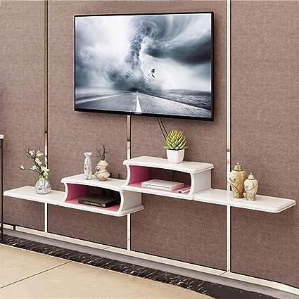 Amazon com: Floating shelf Wall Hanging TV Cabinet WiFi