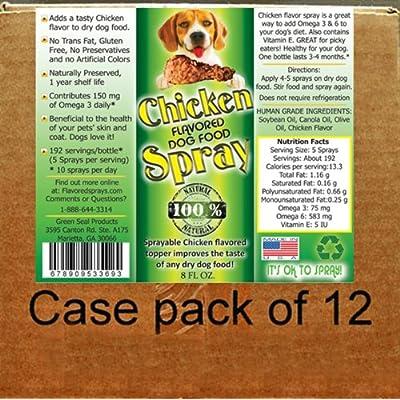 Chicken Flavor Dog Food Topper 12-8 Oz. Bottles