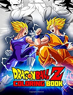 Amazon.com: Dragon Ball Z Coloring Art Book Japanese Nurie Kids ...