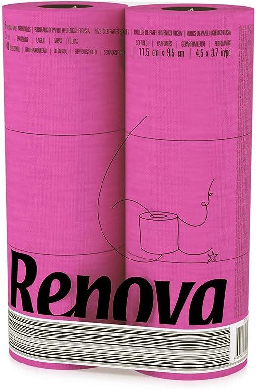 Renova papier toilette jumbo love /& Action Lot de 12 Beige