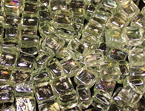 Clear Ice Cubes Fireglass 10 Pound Bag