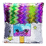 Sequin Pillow Gift for Girls - Magical Reversible Sequin Pillow (Including Insert) for Girls Bedroom...