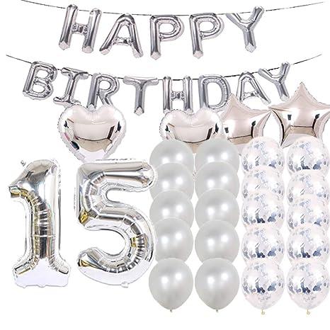 Amazon.com: Dulce 15 cumpleaños decoraciones suministros de ...