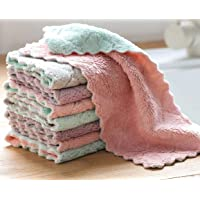 Pack of 8 Washcloths Non Stick Oil Coral Velvet Hanging Hand Towels Kitchen Dishclout Cleaning Cloth Dish Cloth Towel
