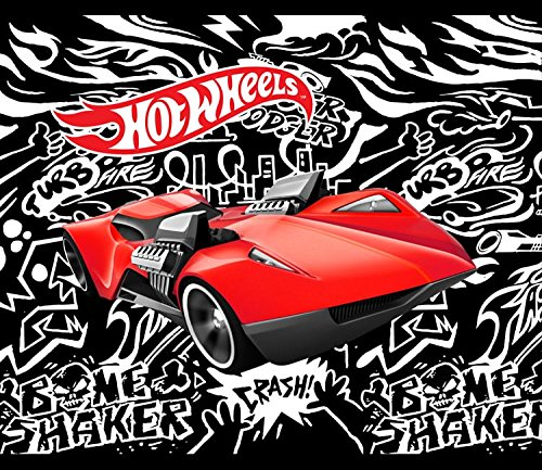 Hot Wheels Fast Car No-Sew Throw Anti-Pill Fleece Fabric Kit by David Textiles