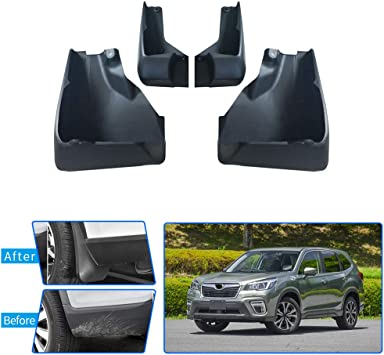 Black Husky Liners Custom Fit Front Mudguard for Select Chevrolet Trailblazer Models Pack of 2