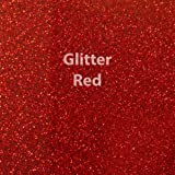 """Siser Glitter Heat Transfer Vinyl 20"""" x 12"""" Sheet (Red)"""