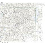 Amazoncom Dallas TX ZIP Code Map Laminated Home  Kitchen
