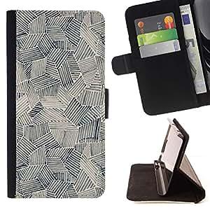 Momo Phone Case / Flip Funda de Cuero Case Cover - Pintura Arte Formas Negro Blanco - MOTOROLA MOTO X PLAY XT1562