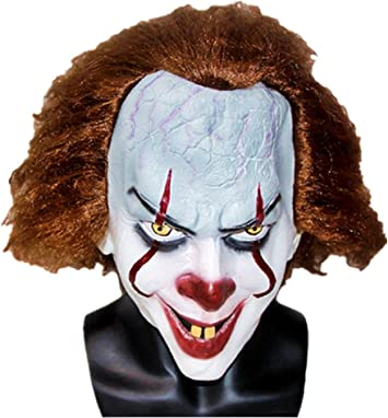 RUBIES MASQUERADE CO UK LTD Adult Deluxe IT Clown Movie Mask Standard