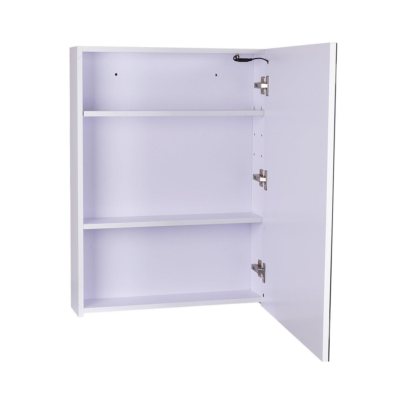 amazoncom homcom 32u201d led single door bathroom mirror medicine cabinet home u0026 kitchen