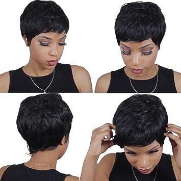 HAIR WAY Brazilian Virgin Hair 28 Pieces Short Human Hair Weave With Free  Closure 28 Pieces 2e7a3a3601
