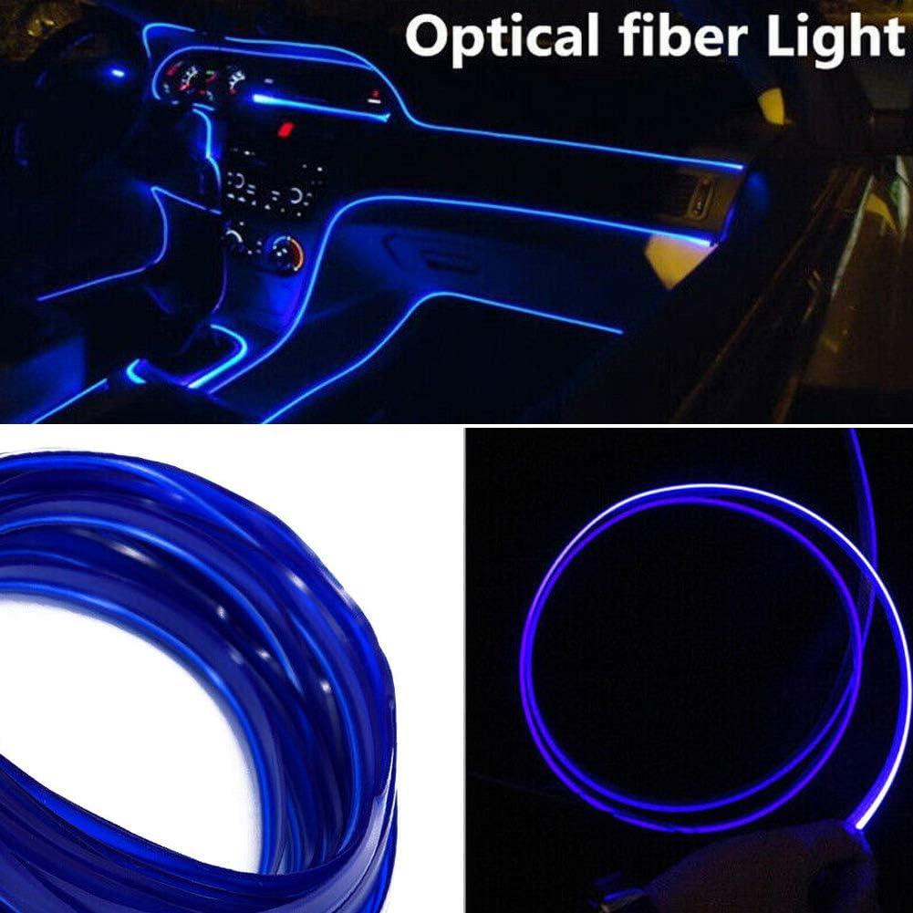 SUN123 4 m Auto LED Innenraumbeleuchtung Dekor Atmosph/äre Lichtfaser Lampe 4 m Yellow Light
