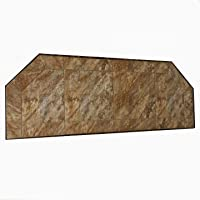 "Dreffco 12"" x 48"" Canyon Heat Protective Tiled Hearth Extension. Extend The Protective Distance in Front of Your Fireplace, Wood Stove or Pellet Stove."