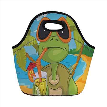 Portable Bento Lunch Bag,Turtle,Cool Sea Turtle with ...