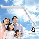 自然光 LEDデスクライト PRO(ホワイト) LEDデスクスタンド W