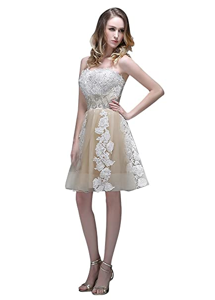 Vestidos para ocasiones Adasbridal-Vestidos de Fiesta corto de Maravilloso Tul con escote corazon de