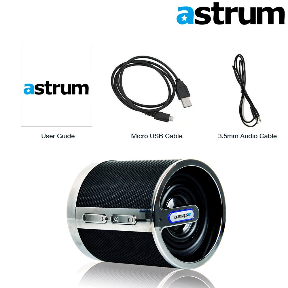 Astrum ST150 Portable Wireless NFC Bluetooth Speaker - High-Definition Sound Quality w Built-in Microphone for Apple iPhone, iPad, Samsung, LG, Sony, HTC, Other Bluetooth Enabled Devices by Astrum