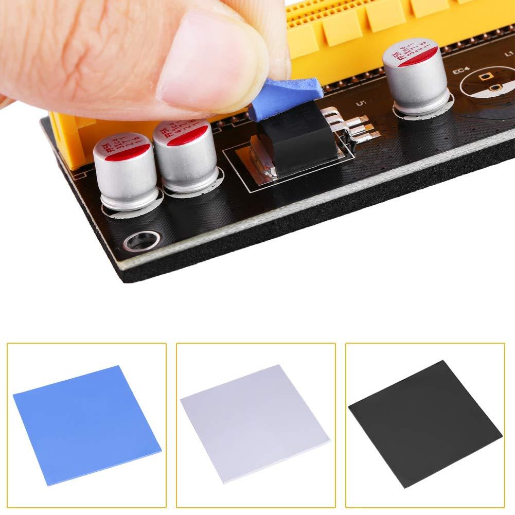 Lastra Termica Silicone Dissipatore Calore Cuscinetto Dissipatore Calore Cpu 100 /× 100 /× 2 Millimetri blu