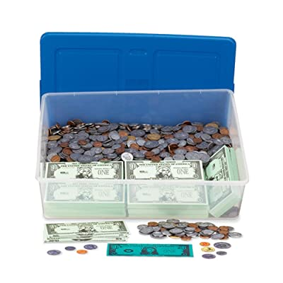 hand2mind Money Classroom Kit, Educational Toy with Paper Bills, Plastic Coins, and Plastic Storage Tote (Set of 2900+ Pieces): Industrial & Scientific