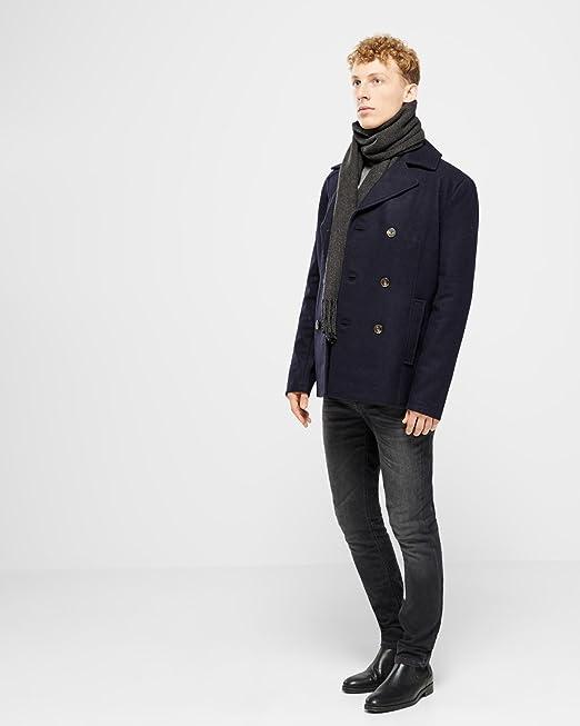 Mens Henri Lloyd Harling Melton Navy Pea Coat - XXL at Amazon Men's  Clothing store: