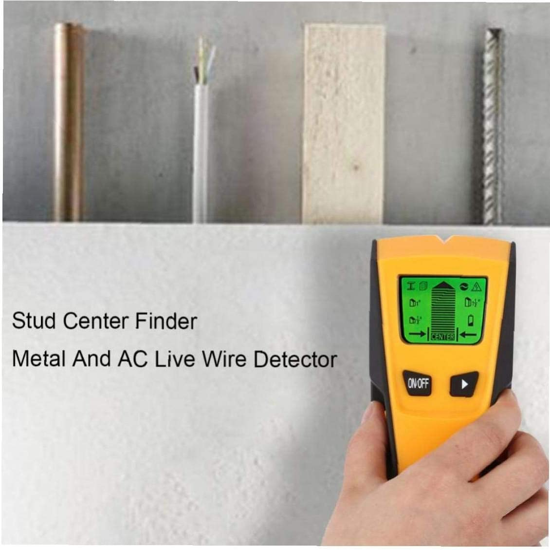 Byfri 3 In 1 Metal Detector Wood Stud Finder Wiring AC live Wire Wall Scanner Detector Electric Box Finder