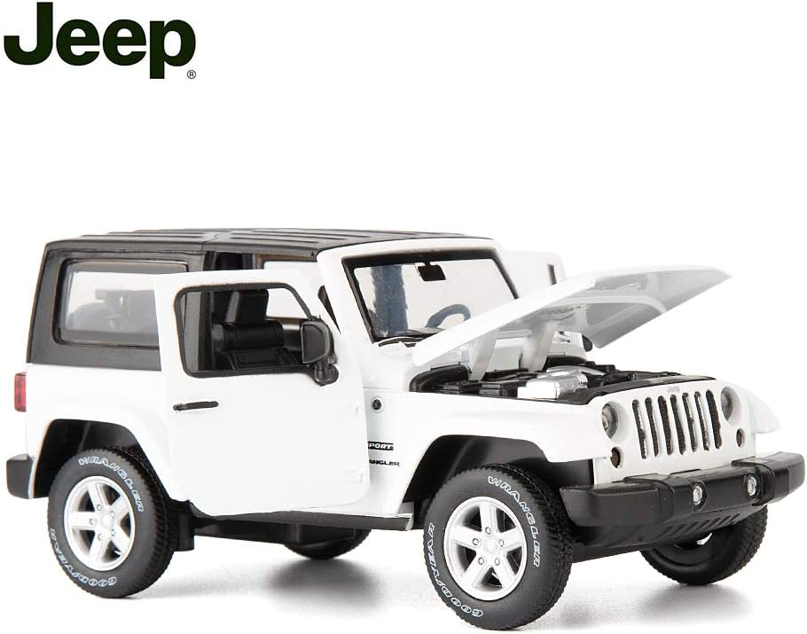 TGRCM-CZ Diecast Model Cars Toy Cars, Jeep Wrangler 1:32 Scale Alloy Pull Back Toy Car with Sound and Light Toy for Girls and Boys Kids Toys