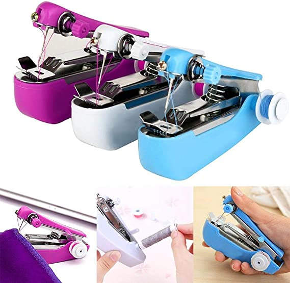 INTVN Máquina de coser a mano, Mini Maquina de Coser Portatil ...