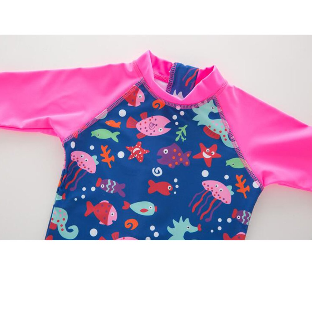 LIBOLI Baby Girls One-Piece Rash Guard Sunsuit Swimsuit Swimwear UPF 50+