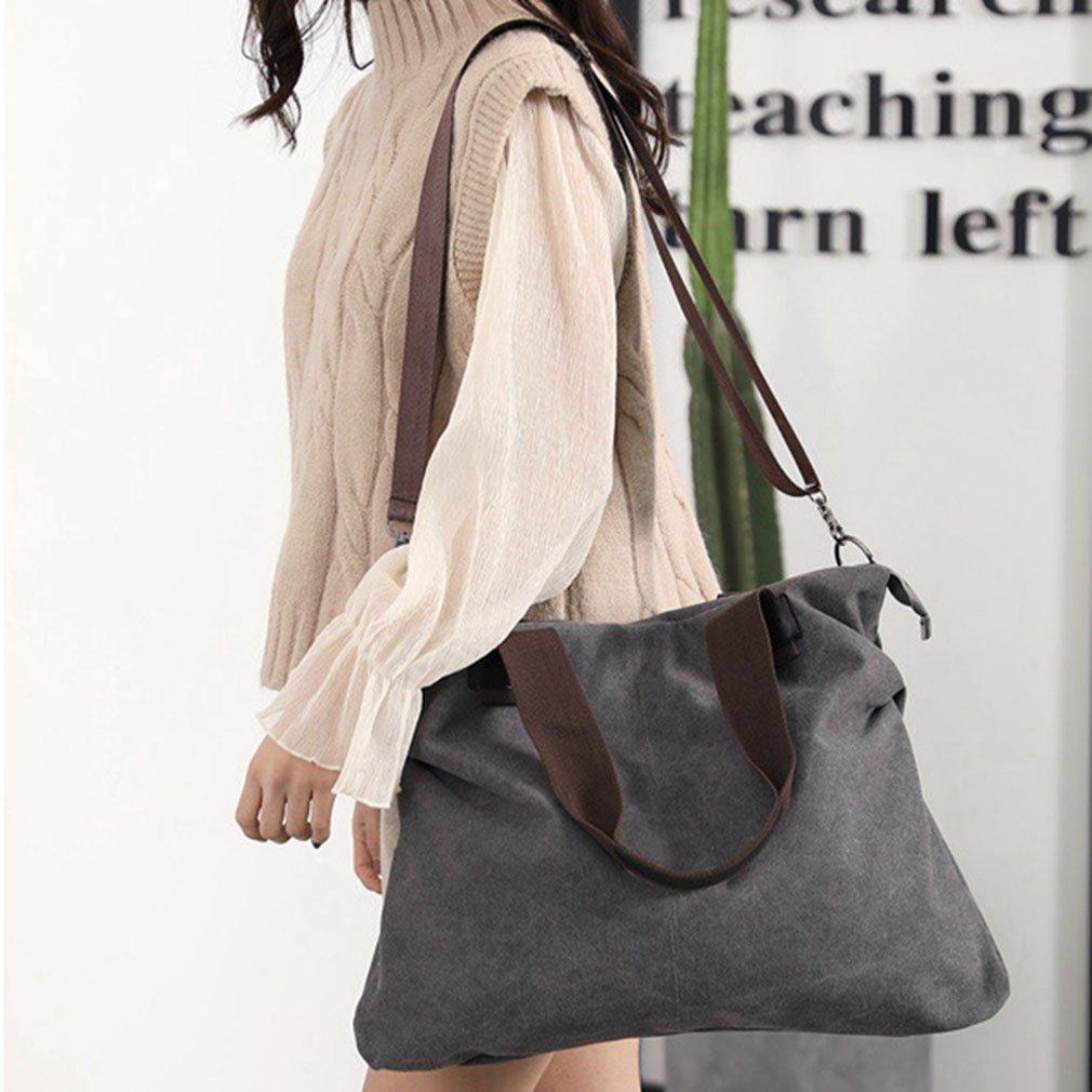 Womens Canvas Shoulder Bags Crossbody Tote Purse Work Travel Weekender Bag