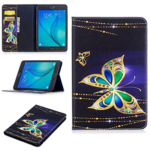 Dteck Galaxy Tab A 8.0 2015 Case, SM-T350 Case, Protective PU Leather Wallet Case with [Card Slots] Cute Flip Folio Stand Book Cover for Samsung Galaxy Tab A 8