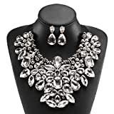 Holylove White Costume Statement Necklace with Earrings Review and Comparison
