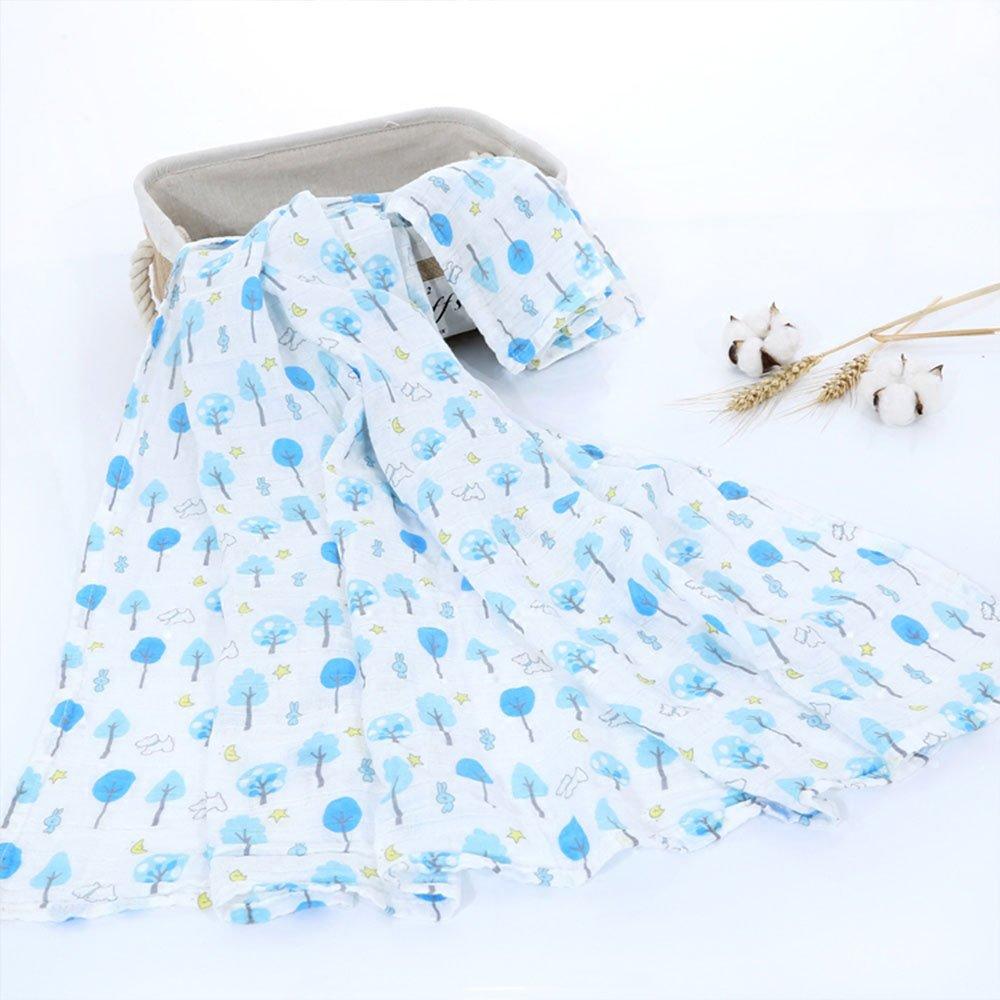 Arbre//bleu Swaddle Couverture pour poussette Poussette et lit de b/éb/é Coton Pur Mantas pour b/éb/é couverture de mousseline newin Star/ /B/éb/é en mousseline
