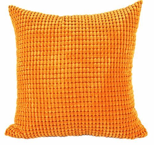Price comparison product image Multi-size Candy Color Corduroy Throw Pillow Cover Sham Case LivebyCare Cushion Covers Pattern Zipper Pillowslip Pillowcase For Lounge Saloon Chair Back Seat Sofa Couch