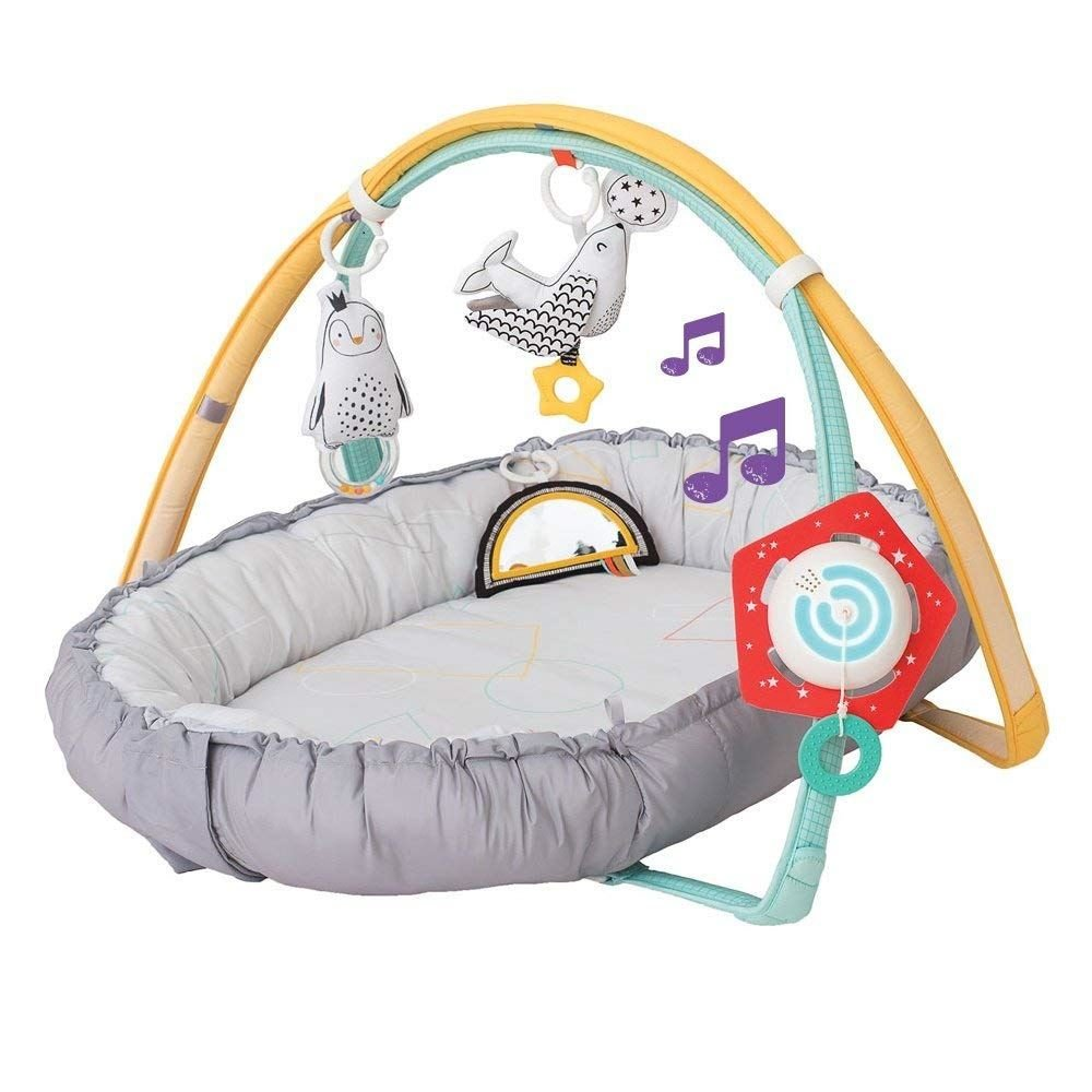 Taf Toys 4 in 1 Music & Light Thickly Padded Newborn Cozy Mat | Interactive Baby Mat. Baby's Activity & Entertainment Center, for Easier Development and Easier Parenting TAF12235