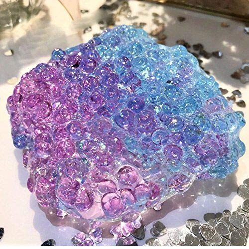 EASYCITY 200ml Jumbo Ice Crystal Slime with Fishbowl Beads, Fluffy Floam Slime Stress Relief Toy Scented Sludge Toy
