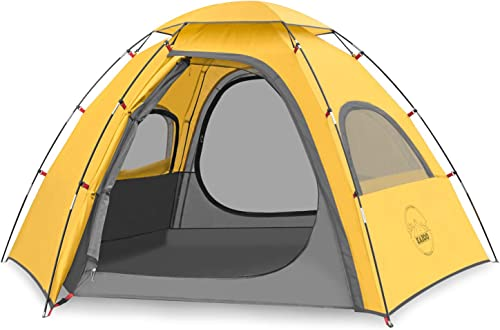 KAZOO Outdoor Camping Tent Family Durable Waterproof Camping Tents Easy Setup Two Person Tent Sun Shade 2 3 Person