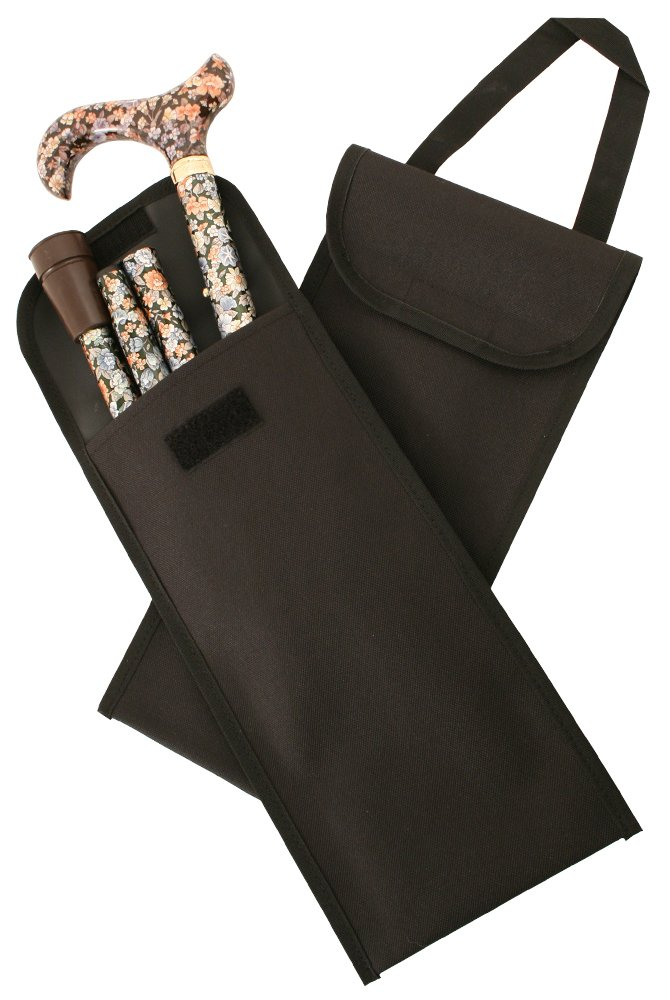 Black Carry Pouch for a Folding Stick with Handle (Stick NOT Included)