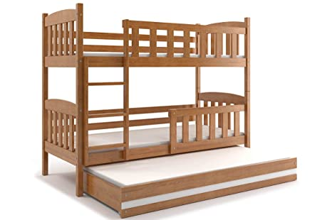 Letto triplo GIACOMINO 200x90, lettino a castello con terzo letto ...