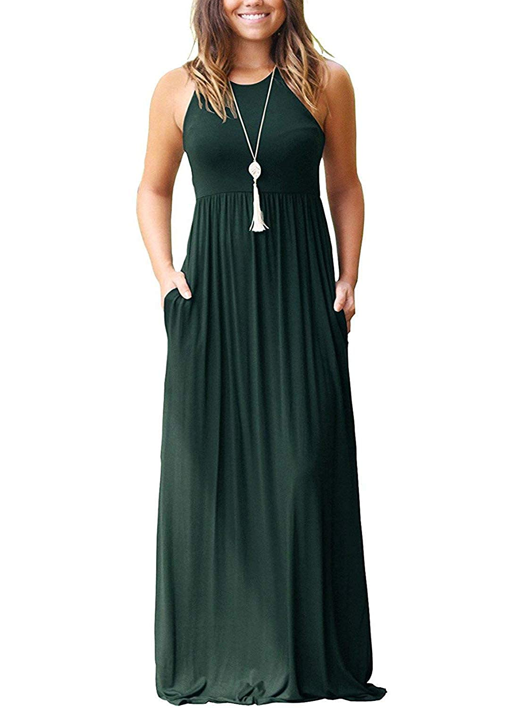 01dark Green I2crazy Women's Long Sleeve Casual Loose Stylish Comfortable TShirt Dress