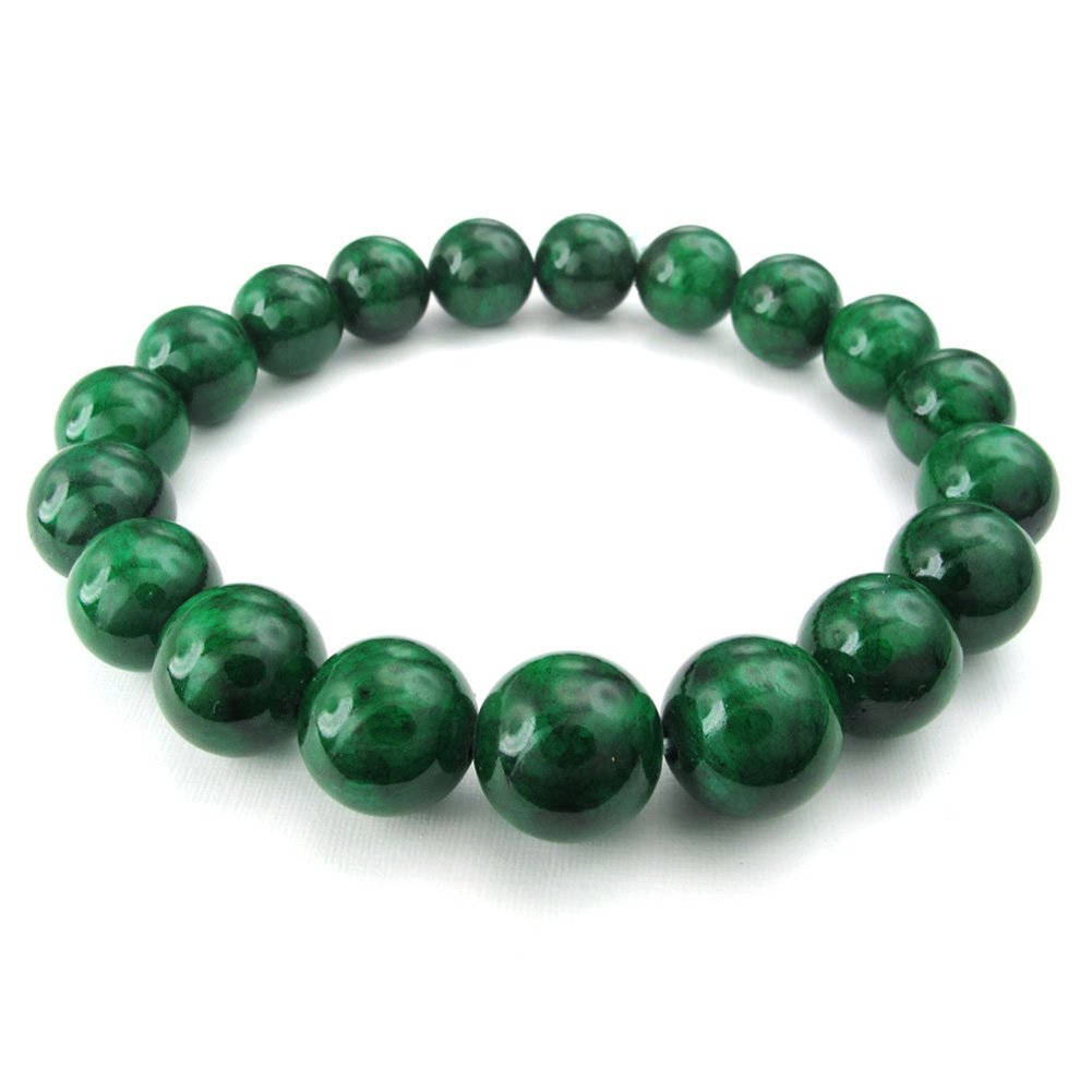 TEMEGO Natural Gorgeous Semi-Precious Gemstones Healing Crystal Stretch Beaded Bracelets for Women
