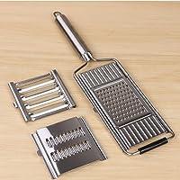 3-In-1 Multi-Purpose Vegetable Slicer,Cabbage Shredder Peeler Adjustable Kitchen Tool,Long Handle Handheld Grater…