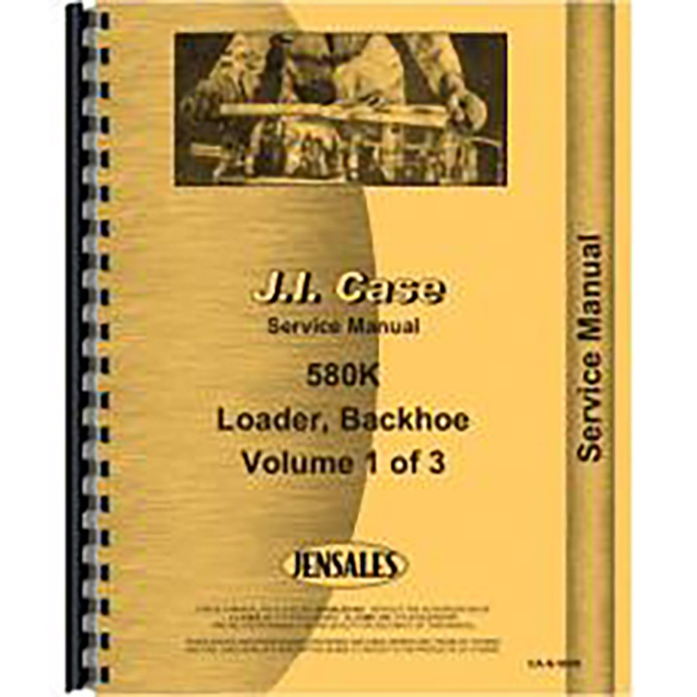 New Case 580K Tractor Loader Backhoe Service Manual (Includes 3 Volumes):  Amazon.com: Books