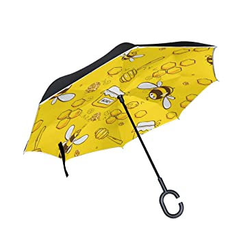 Paraguas invertido Reversible para Mujeres y Hombres con diseño de ...