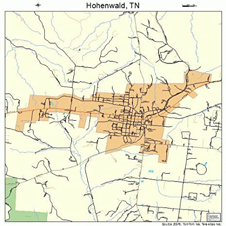 Amazon Com Large Street Road Map Of Hohenwald Tennessee Tn