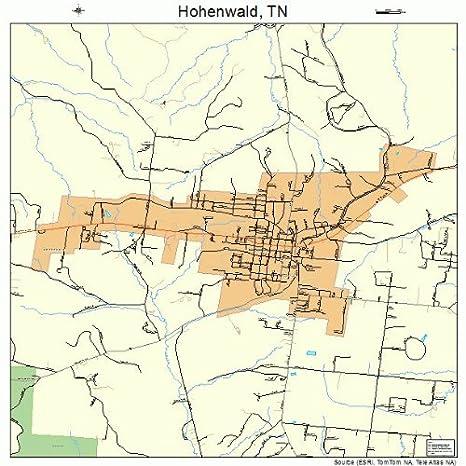 Hohenwald Tennessee Map.Amazon Com Large Street Road Map Of Hohenwald Tennessee Tn