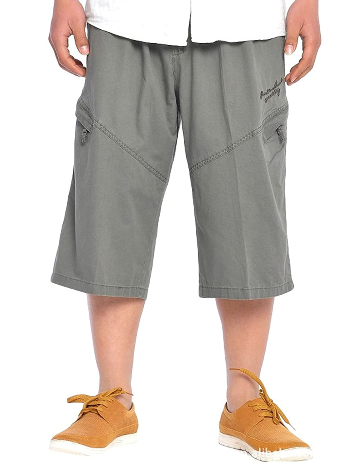 Allonly Mens Camouflage Fashion Cotton Casual Relaxed Fit Multi-Pocket Cargo Shorts