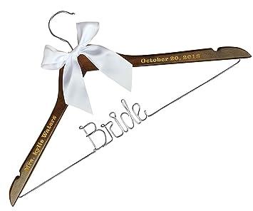 Vintage Hochzeit Hangers Custom Personalisierte Braut Kleid Hanger