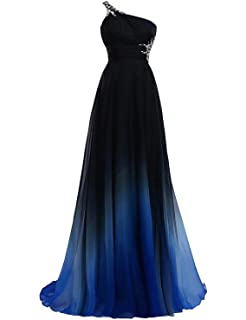 4a941e51333 FTBY Ombre Prom Dresses 2019 Gradient Chiffon Evening Dress Beaded ...