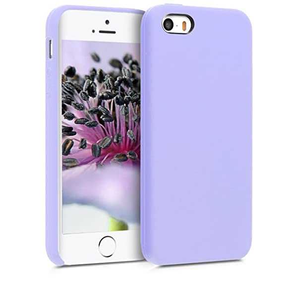 kwmobile TPU Silicone Case for Apple iPhone SE / 5 / 5S - Soft Flexible Rubber Protective Cover - Lavender